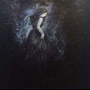 Asphyxiate by SAKSHI CHOKHANI, Fantasy Painting, Oil on Canvas, Baltic Sea color