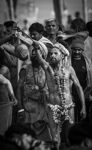 Selfie in Kumbh- The holy one by SRIJAN NANDAN, Image Photography, Digital Print on Archival Paper,