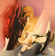 Poetics of Emotions LXVIII by Kandan G, Abstract Painting, Acrylic on Board, Bistre color