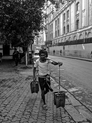 Bhistis of Calcutta (Water Carrier) by SRIJAN NANDAN, Image Photography, Digital Print on Archival Paper,