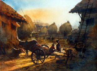 Twilight Digital Print by Jiaur Rahman,Impressionism