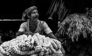 Phoolwala of calcutta by SRIJAN NANDAN, Image Photography, Digital Print on Archival Paper,