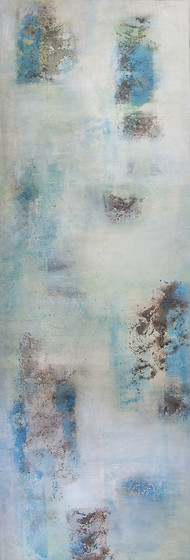 Conceptual Dreams by Goutam Mukherjee, Abstract Painting, Acrylic on Canvas, Silver Sand color