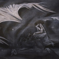 Wings ii  charcoal   conte on canvas 72%22x54%22inchesjpg copy