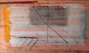 untitled by Harsha Vardhana S, Abstract Painting, Mixed Media on Canvas, Beaver color
