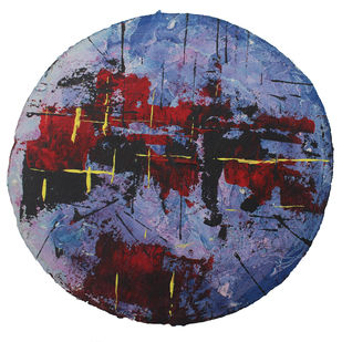 Untitled-7 by Ravi Kumar A S, Abstract Painting, Acrylic on Paper, Thunder color