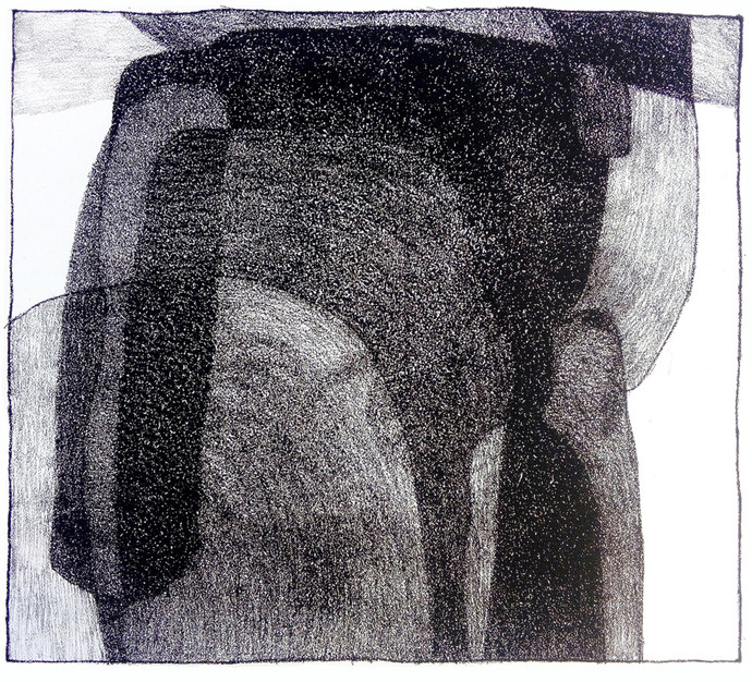 UNTITLED by ashwini patil, Abstract Printmaking, Lithography on Paper, Baltic Sea color