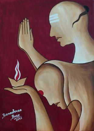 Gratitude Digital Print by Banoshree Bose,Expressionism