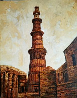 Delhi-I by Sanjay Soni, Expressionism Painting, Acrylic on Canvas, Eclipse color