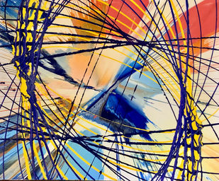 escape by Shivansh Modi, Abstract Painting, Acrylic on Canvas, Sisal color