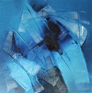 UNTITLED by Ganapathi Agnihothri, Abstract Painting, Oil on Canvas, Astral color