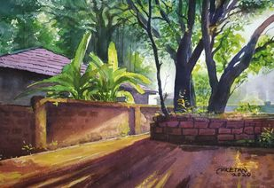 'Morning Glory' by Niketan Bhalerao, Illustration, Realism Painting, Watercolor on Paper, Merlin color