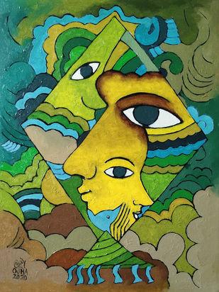 Kites II Digital Print by Ratnakar Ojha,Expressionism