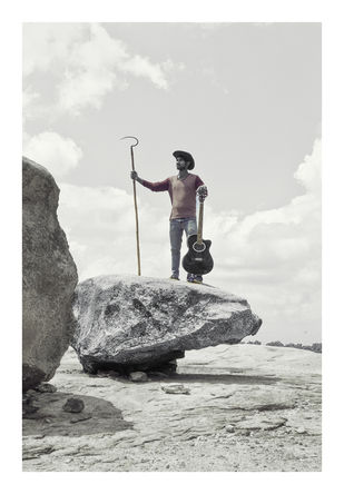 Rock & Sickle by Charles Tirkey, Image Photography, Giclee Print on Hahnemuhle Paper, Quill Gray color