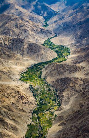 The flowing Green of the valley-Leh Valley, Ladhak Digital Print by SRIJAN NANDAN,Image