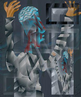 Resonance by Prakash Ambegaonkar , Expressionism Digital Art, Digital Print on Canvas, Outer Space color
