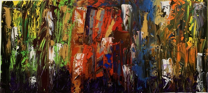 Life different time of colours by Meet Thakkar, Abstract Painting, Acrylic on Canvas, Oil color