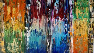Different colours of life by Meet Thakkar, Abstract Painting, Acrylic on Canvas, Whiskey color