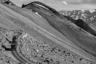 Taking the High Roads- Ladakh Digital Print by SRIJAN NANDAN,Image