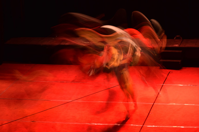 Dance of an Artist by Shashiranjan Prakash, Image Photography, Digital Print on Paper, Alizarin Crimson color
