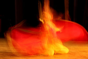 Fire of the Dance by Shashiranjan Prakash, Image Photography, Digital Print on Paper, Pomegranate color