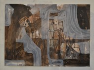 Machines by Harpreet Singh, Abstract Painting, Acrylic & Ink on Paper, Soya Bean color