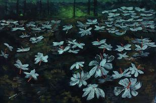Xewali by Bhaswati Boruah , Impressionism Painting, Acrylic on Canvas, Bunker color