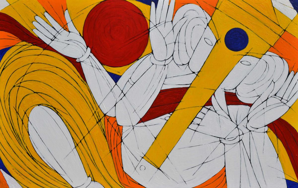 Siddhi Daata Digital Print by Jiaur Rahman,Expressionism