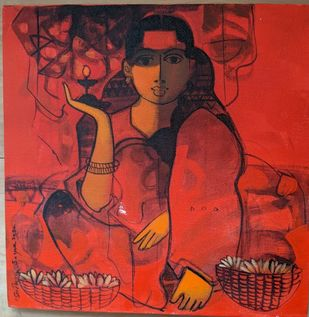 Untitled by Sachin Sagare, Expressionism Painting, Acrylic on Canvas, Mojo color