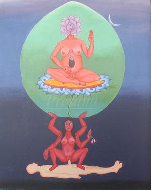 The Cosmic queen Digital Print by Prerana Sarkar,Expressionism