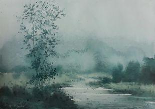 Winter Fog Digital Print by Fareed Ahmed,Impressionism