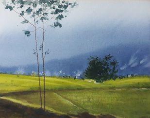 Hill Station Digital Print by Fareed Ahmed,Impressionism