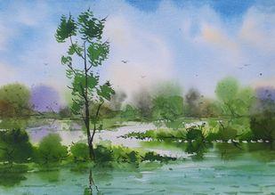Lake Digital Print by Fareed Ahmed,Impressionism