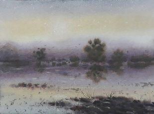 Dusk and Down Digital Print by Fareed Ahmed,Impressionism
