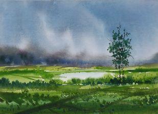 Nature Digital Print by Fareed Ahmed,Impressionism