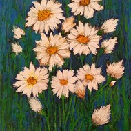Flowers Digital Print by Vibha Singh,Expressionism