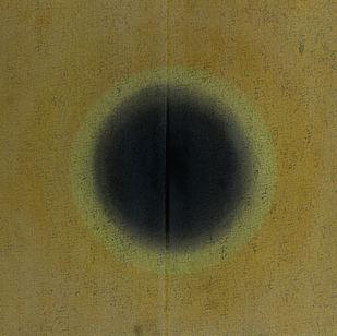Untitled by Pradeep Ahirwar, Geometrical Painting, Mixed Media on Canvas, Pesto color