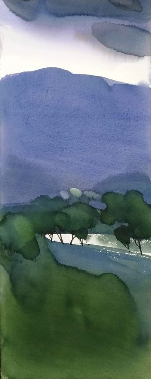 No man's lands_cape 2 by Prashant Prabhu, Impressionism Painting, Watercolor on Paper, Lynch color
