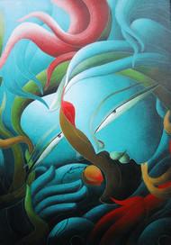 Untitled Digital Print by Dhananjay Mukherjee,Expressionism