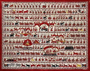 Mata-ni-pachedi by Unknown Artist, Folk Painting, Vegetable Dye on Cotton,