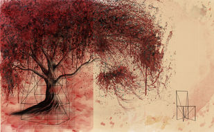 SUSPENDED IN TIME - II by Gopal Mehan, Impressionism Painting, Mixed Media on Paper,
