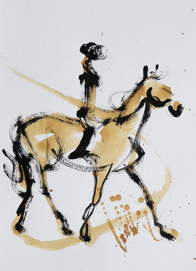 horse 37 Digital Print by Santhosh CH,Illustration