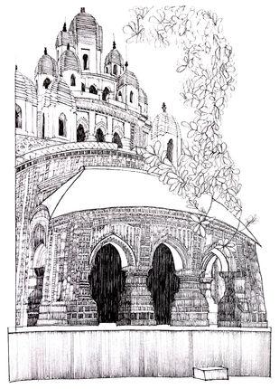 Krishna Chandraji Temple Digital Print by Pooja Wadekar,Illustration