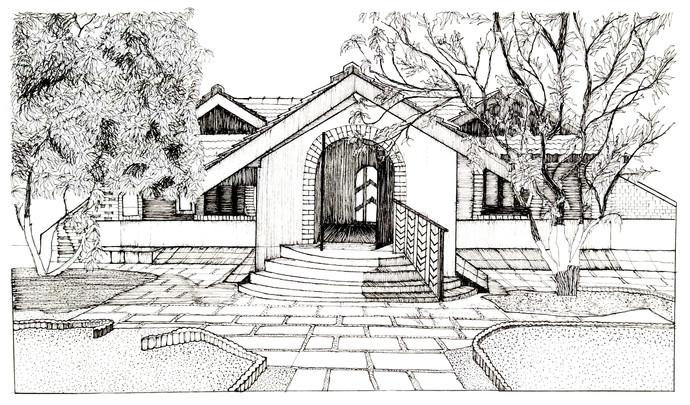 Vernacular House Digital Print by Pooja Wadekar,Illustration