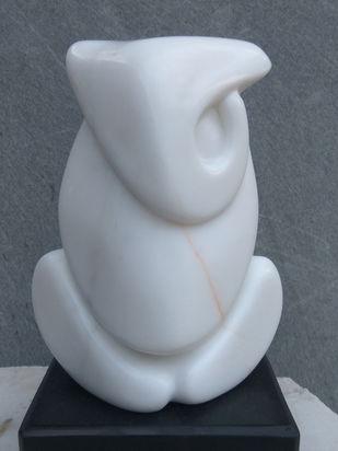 Ganesha by Amit Kumar Singh, Art Deco Sculpture | 3D, Marble, Brass & Jaisalmer Stone, Nevada color