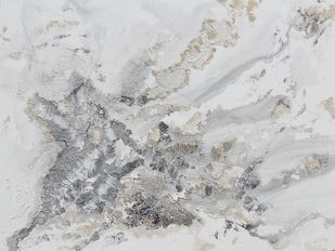 Zephyr by Kavita Jaiswal, Abstract Painting, Acrylic on Canvas, Gray Nickel color