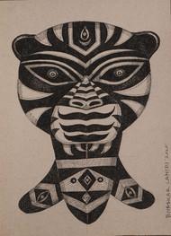 Drawing 1 by Bhaskar Lahiri, Illustration Drawing, Pen & Ink on Paper, Del Rio color