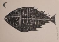 Drawing 5 by Bhaskar Lahiri, Illustration Drawing, Pen & Ink on Paper, Bison Hide color