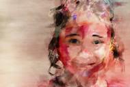 True-est smile! by Shashank Sharma, Digital Digital Art, Digital Print on Canvas, Oriental Pink color