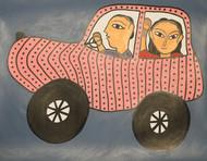 Jogi Art by Soni Jogi by SONI JOGI, Folk Painting, Mixed Media and Pen on Paper, Tapa color